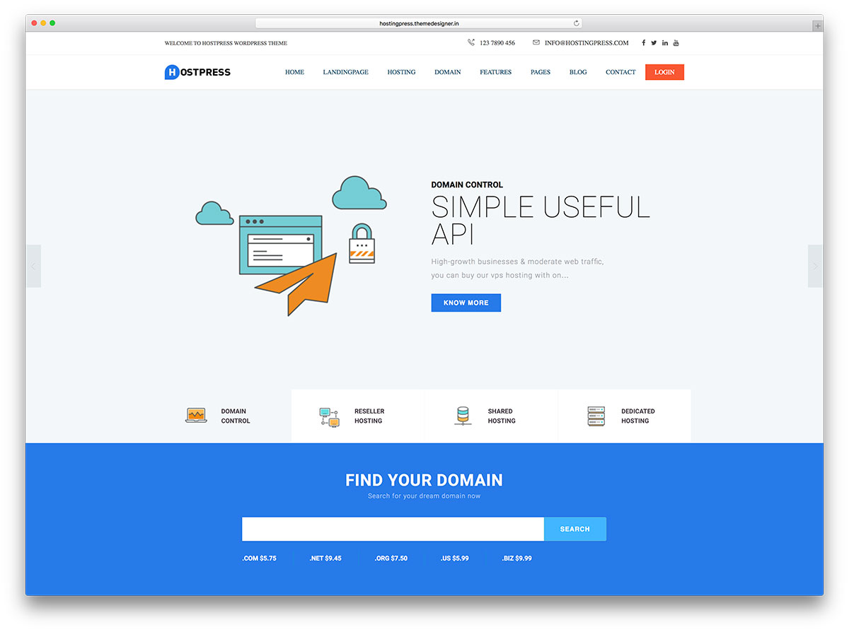 hostingpress-simple-design-hosting-website-template