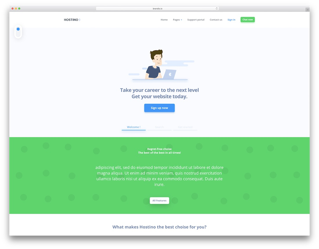 hostino technology website template