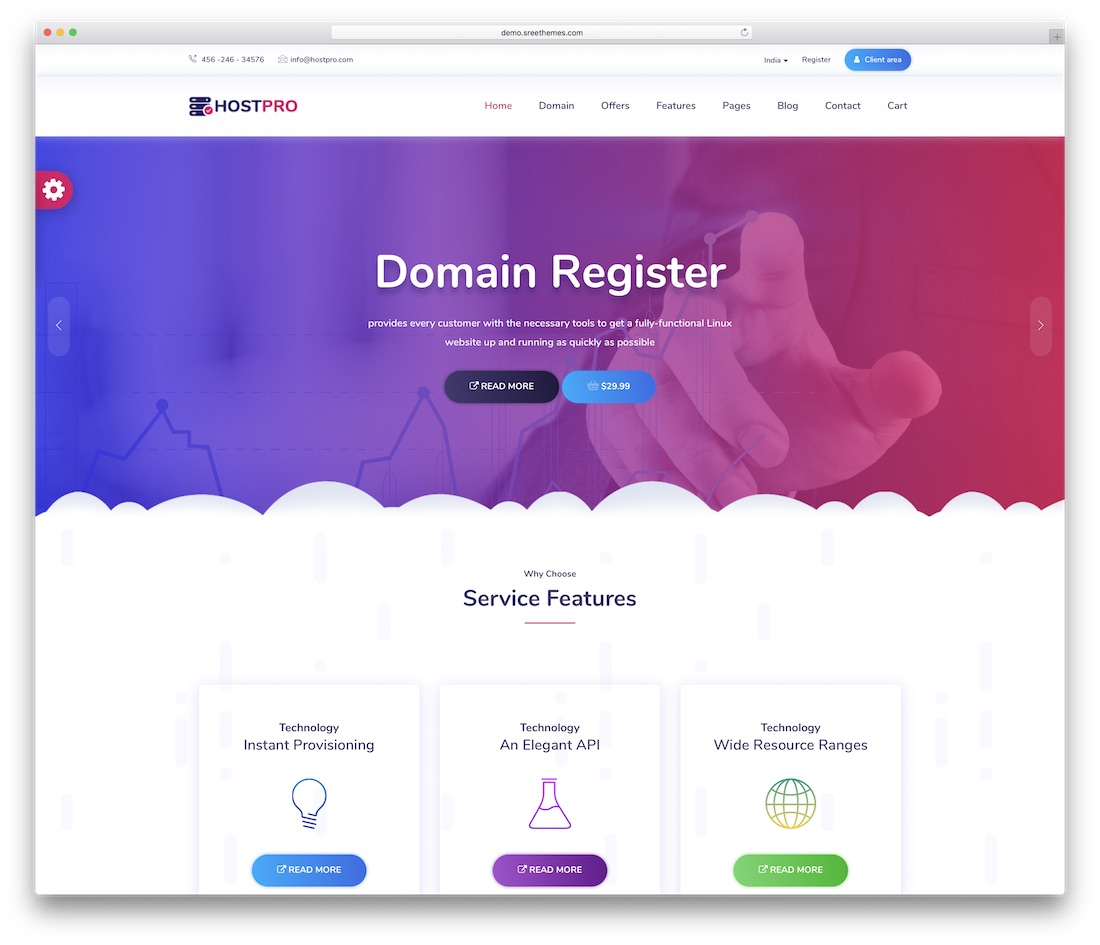 hostpro website template