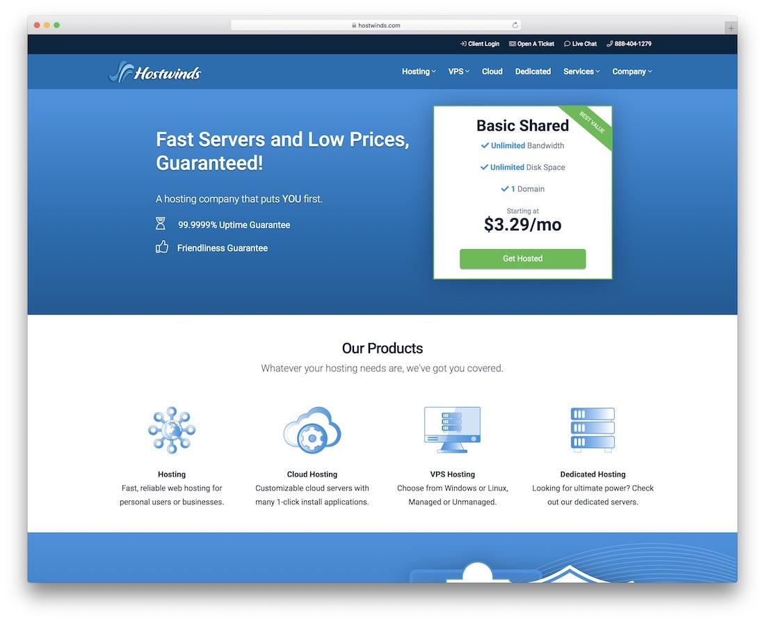 hostwinds cheap hosting for wordpress