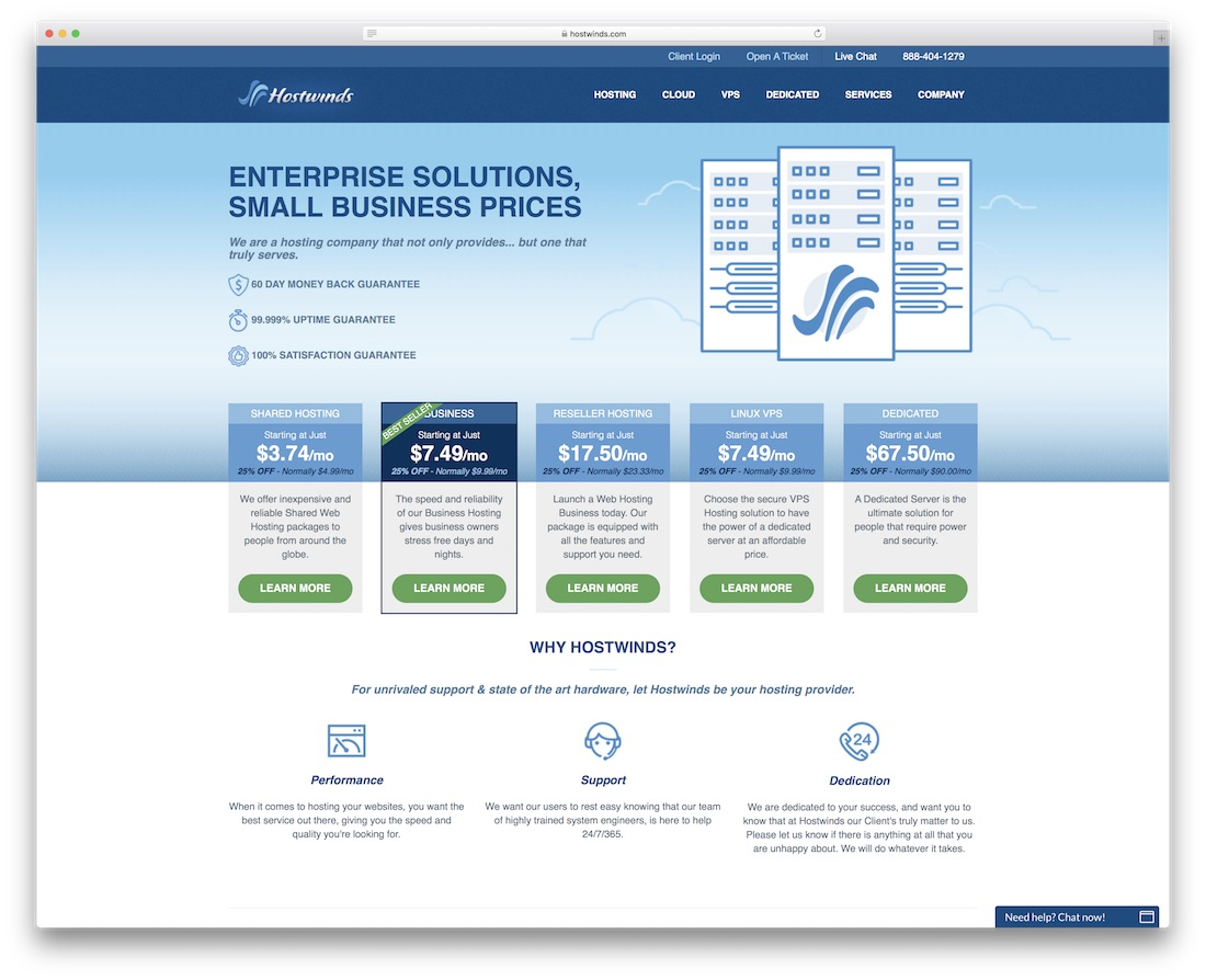 hostwinds web hosting for personal website