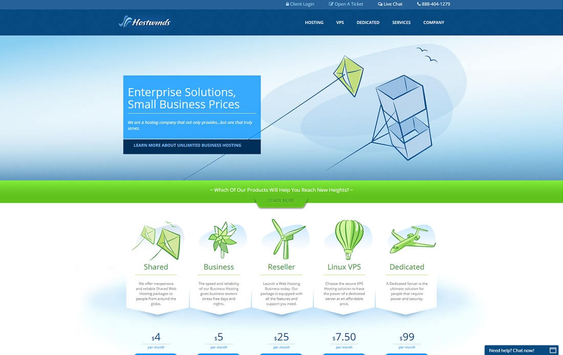 hostwinds web hosting personal website