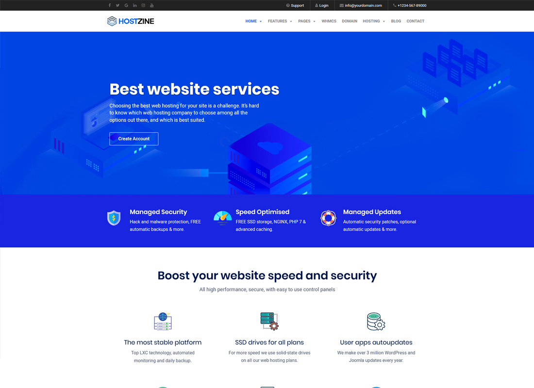 Hostzine | Hosting WordPress Theme