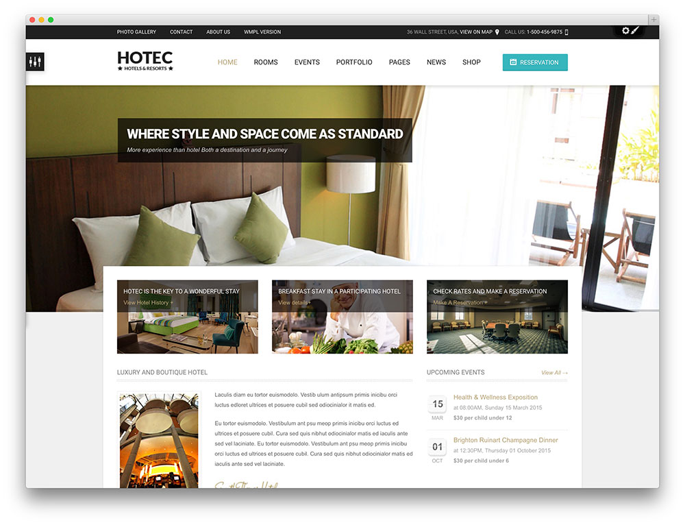 hotec - resort and hotel booking