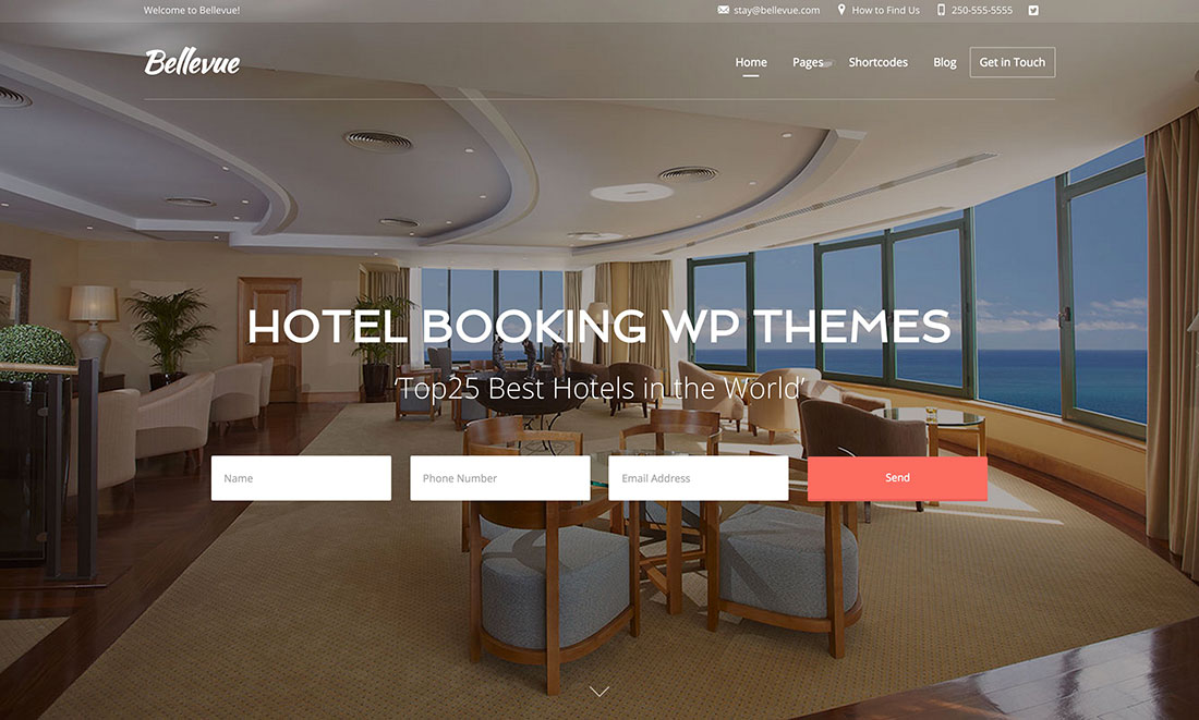 10 best travel hotel wordpress themes 2017 ampower for Booking design hotel