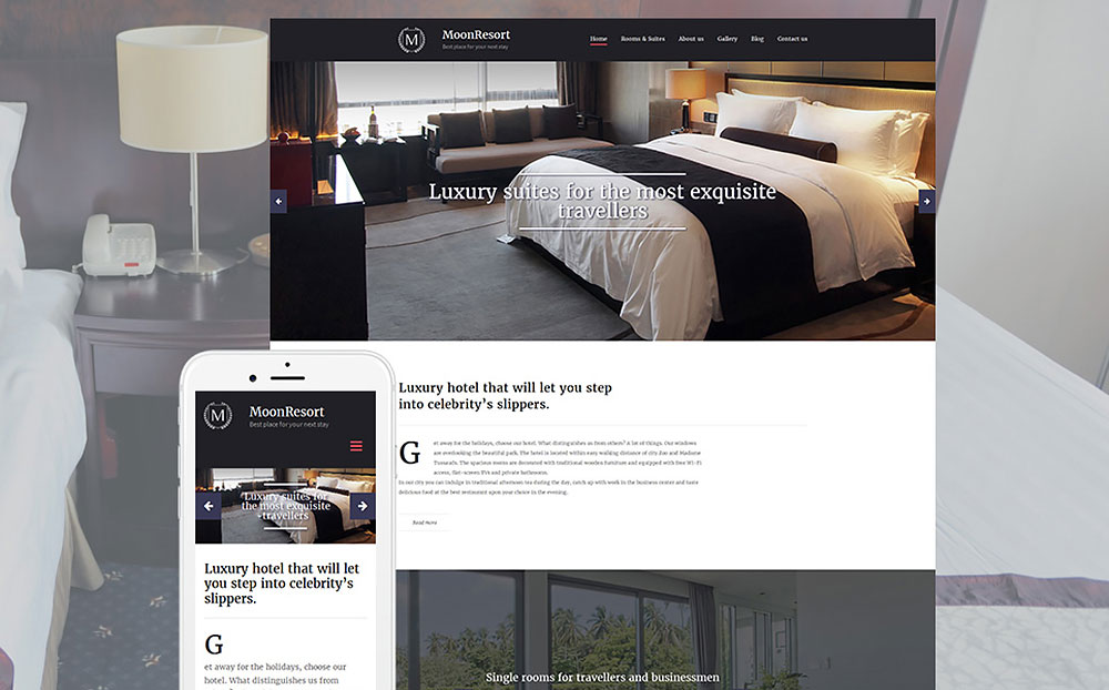 Hotels Responsive Moto CMS 3 Template
