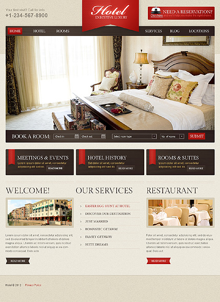 Best Hotel WordPress Themes With Incredible Design And - Website to design a room