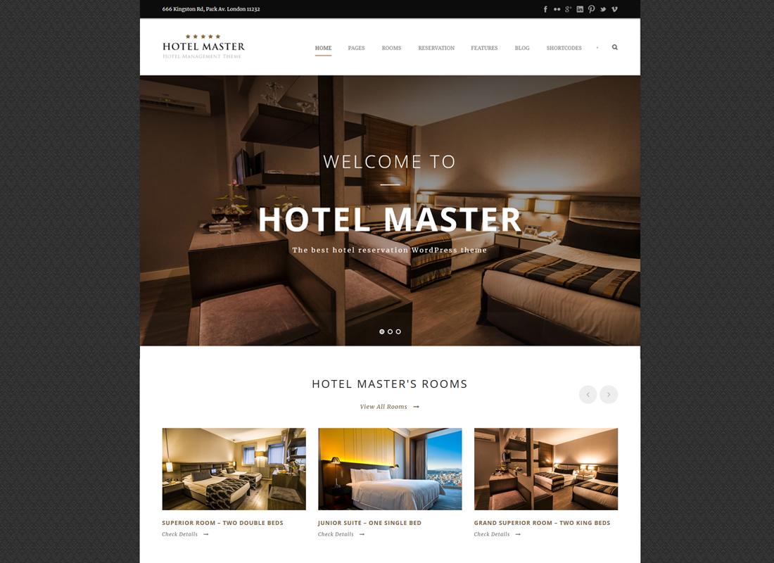 Hotel Master | Hotel Booking WordPress Theme