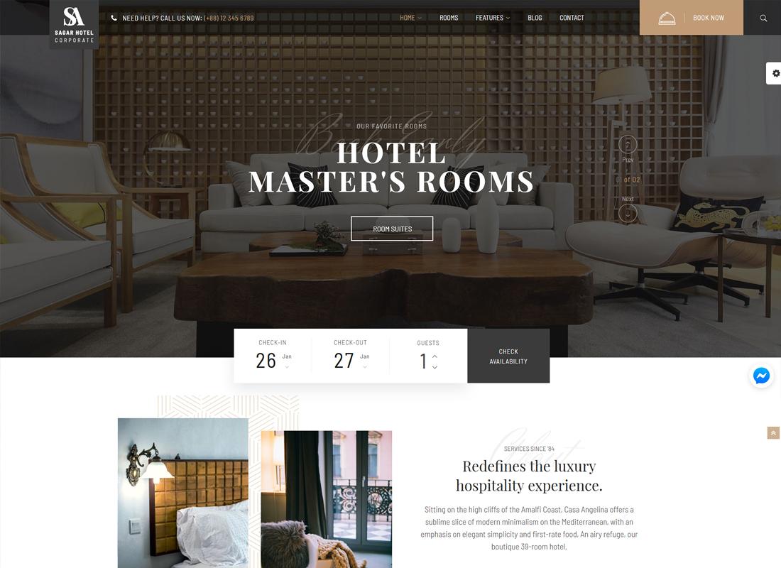 Sailing Hotel | Hotel WordPress Theme