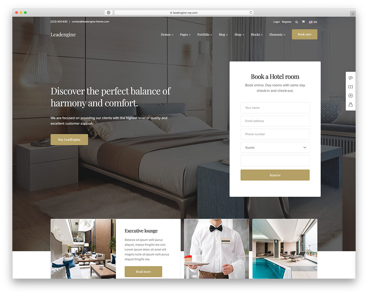 21 Best Hotel WordPress Themes With Incredible Design & Functionality 2019