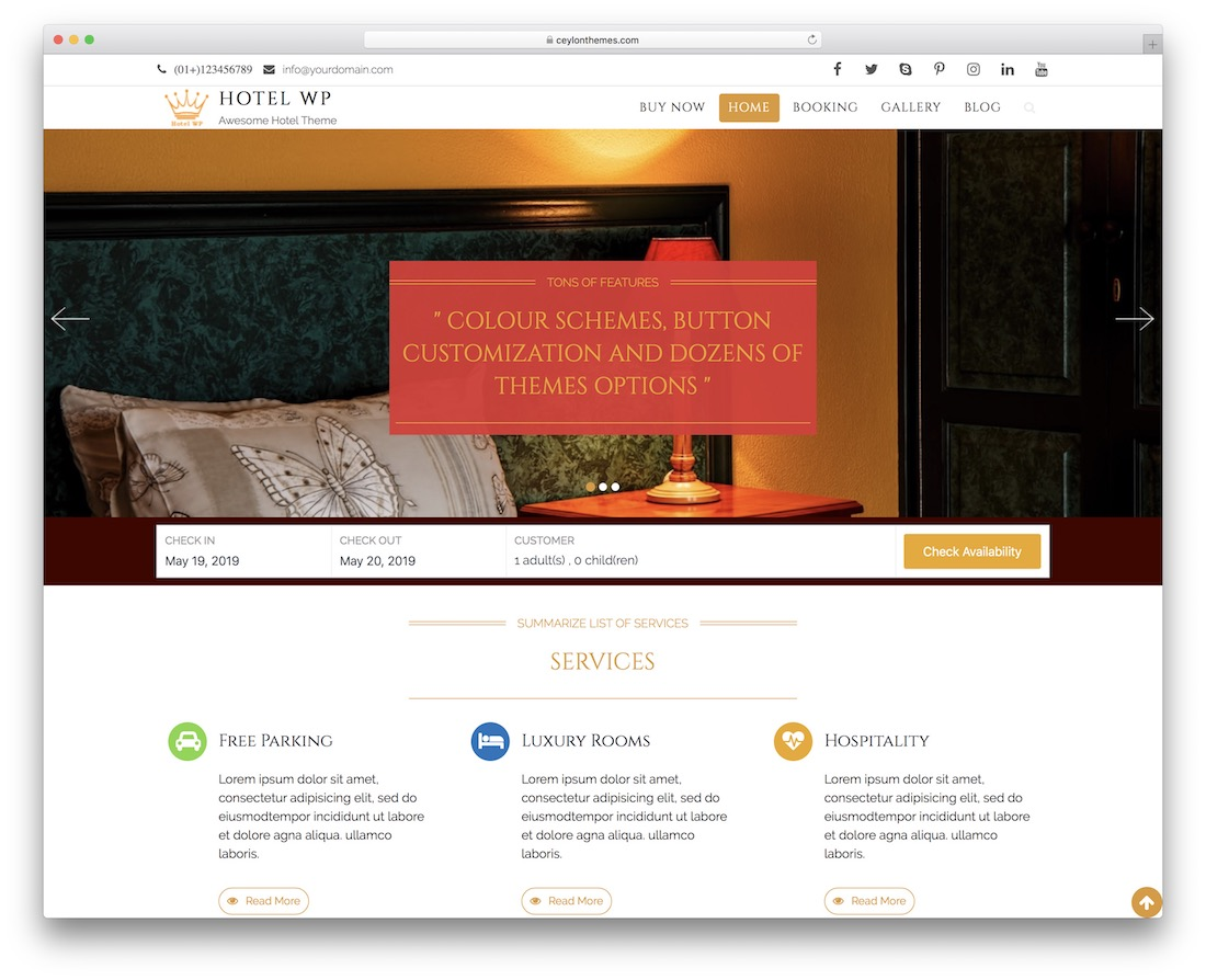 hotel wp lite free wordpress theme
