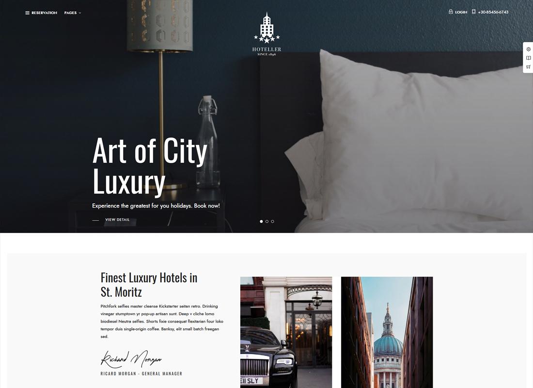 Hoteller | Hotel Booking WordPress