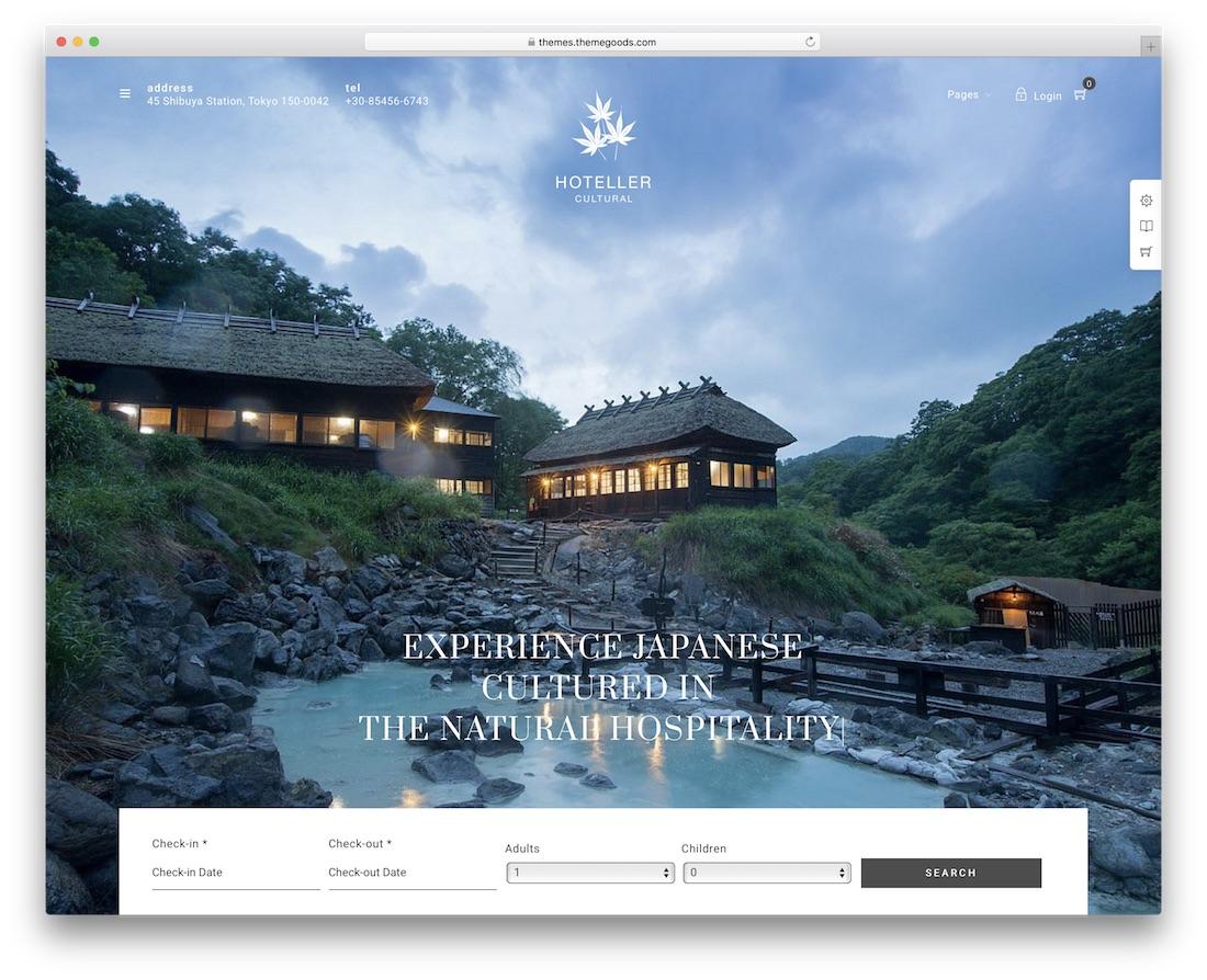 hoteller hotel wordpress theme incredible design