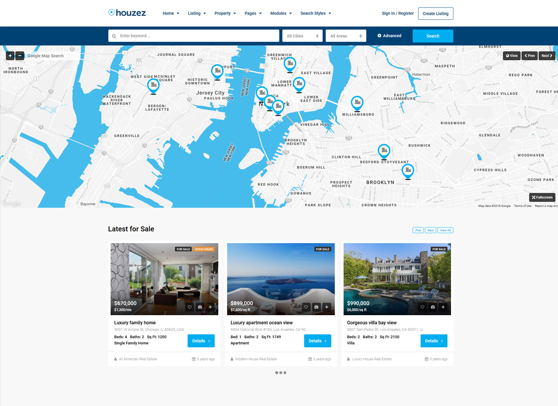 Houzez | Real Estate WordPress Theme