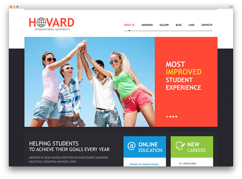 hovard education WP theme