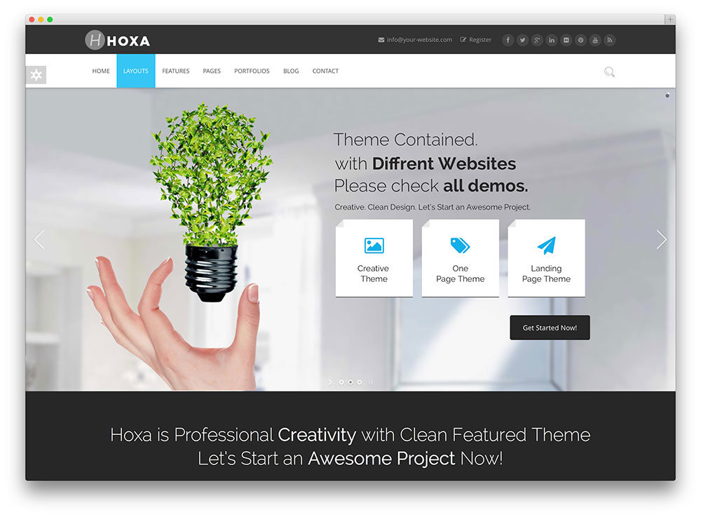 hoxa consulting business wordpress theme
