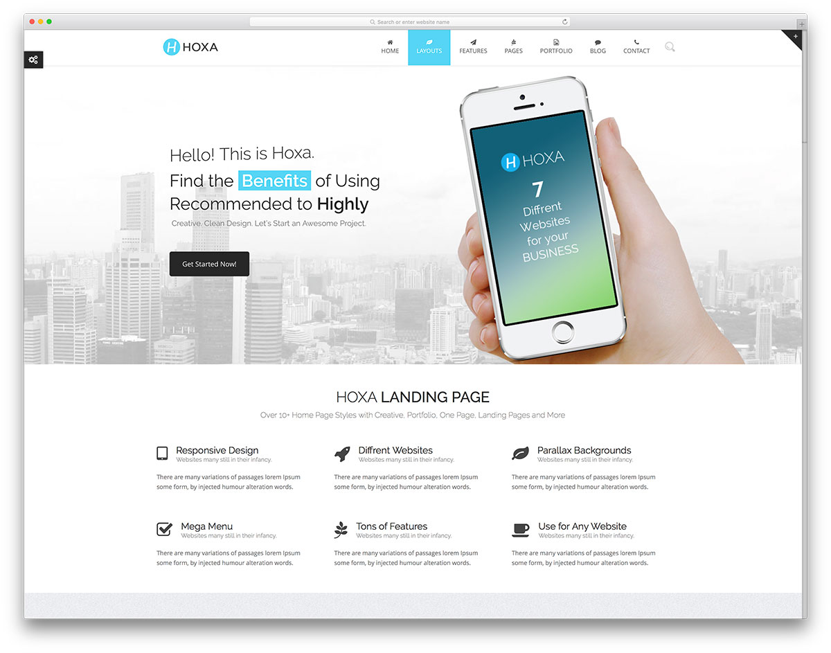 30 clean and simple wordpress themes 2017 colorlib hoxa simple landing page website template