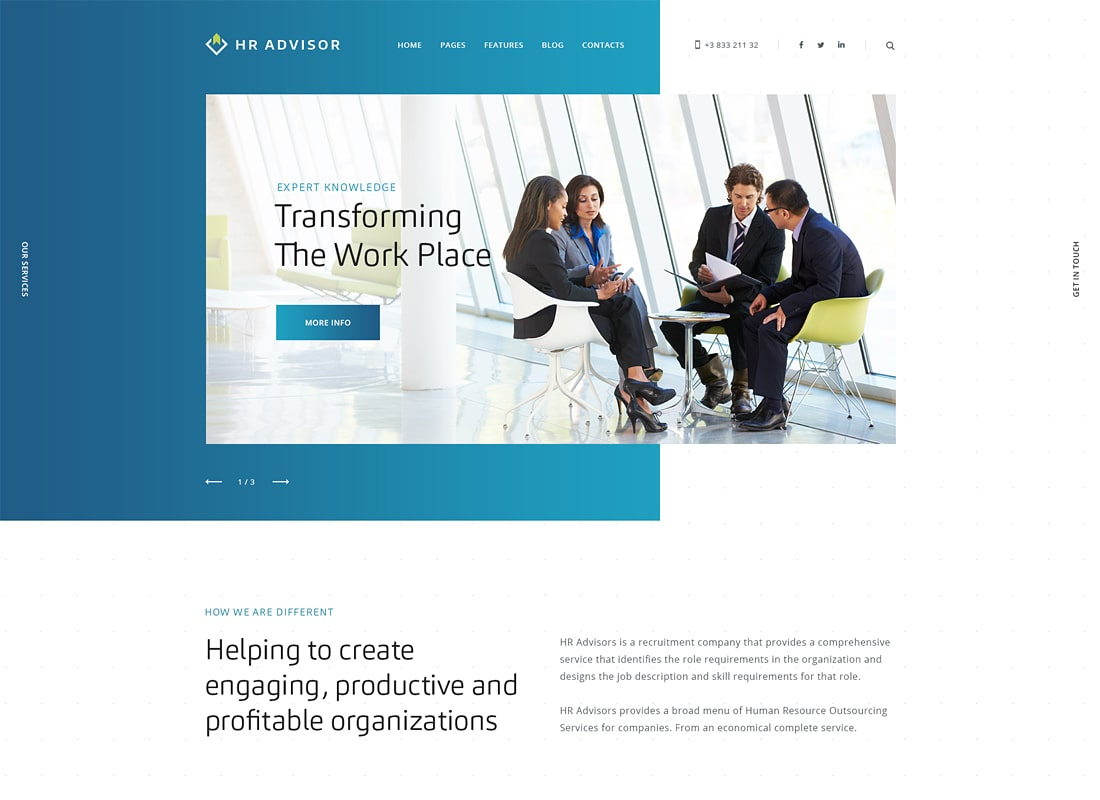 HR Advisor | Human Resources & Business Consulting WordPress Theme
