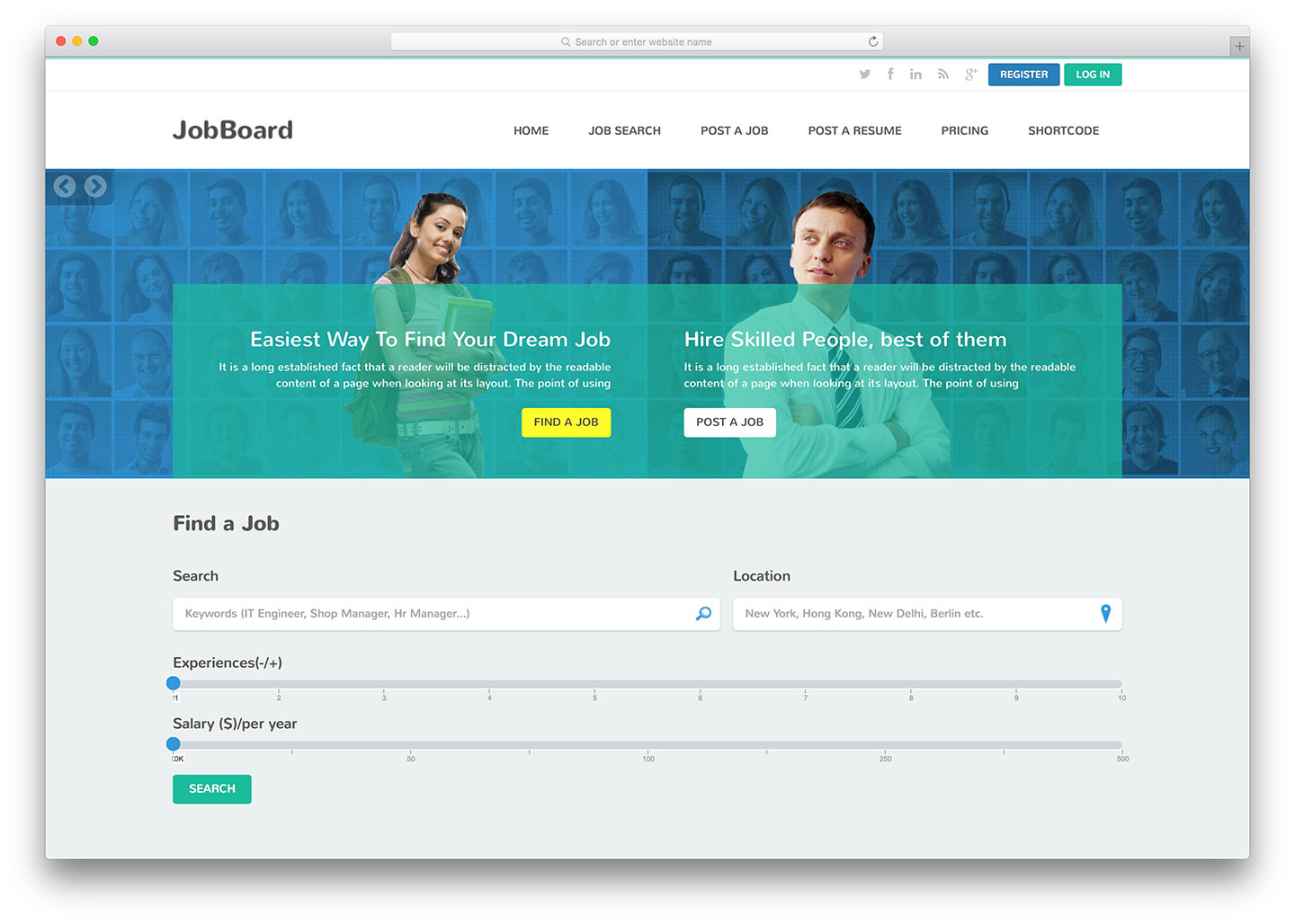 Top 18 HTML5 Job Board Websites Templates For Freelance Marketplaces And Job Portals 2019
