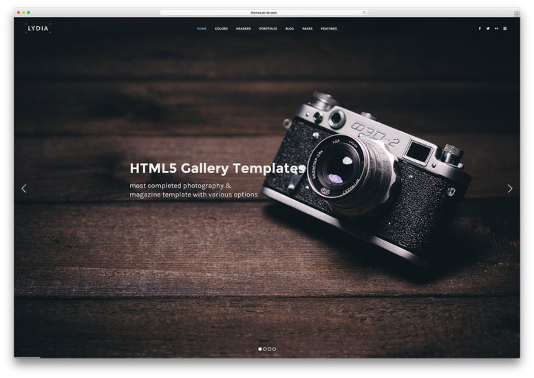 Top 21 Gallery HTML5 Website Templates To Showcase Your Stunning Images 2018