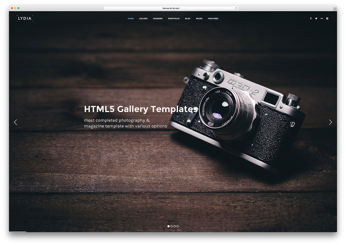 Blog home 187 top 20 gallery html5 website templates to showcase your