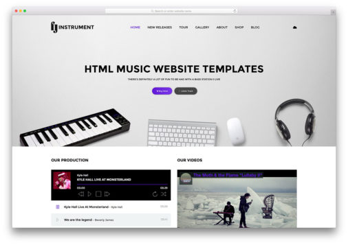 Html5 Music Website Templates