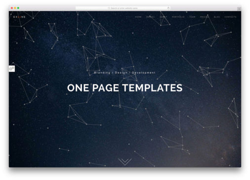 Html5 One Page Website Templates