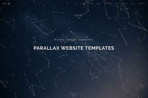 Html5 Parallax Website Templates