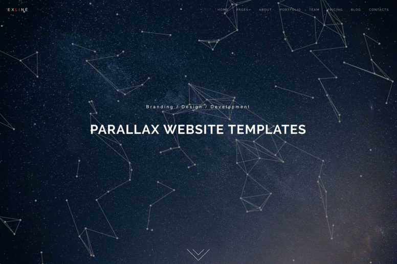 22 Minimal Parallax Website Templates With Smooth Scrolling [HTML & WordPress] 2017