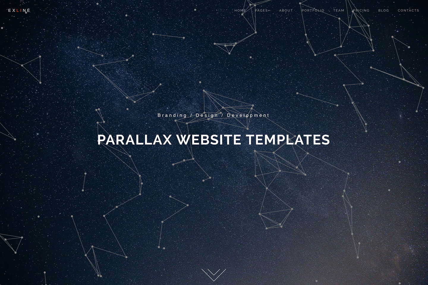 30 Minimal HTML5/CSS3 Parallax Website Templates 2018 - Colorlib on custom htmlhelper, custom text, custom script, custom fireworks,