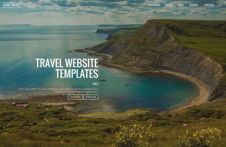Top 21 Creative HTML5 Travel Website Templates For Travel Blogs And Agencies 2018