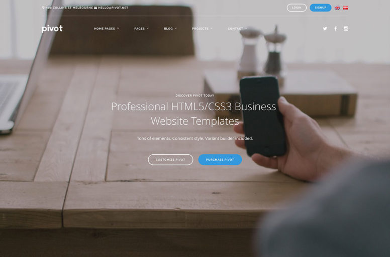 Top 18 Professional HTML5/CSS3 Business Website Templates To Grow Your Business 2017