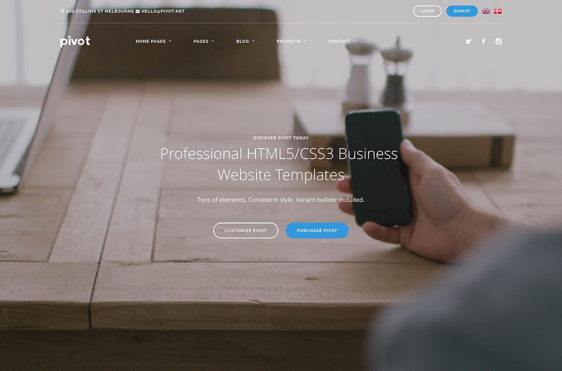 Top 21 Professional Business Website Templates To Grow Your Html5 Css3 WordPress