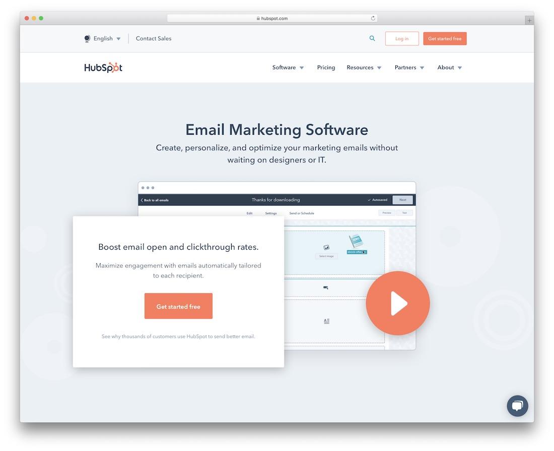 hubspot email marketing platform