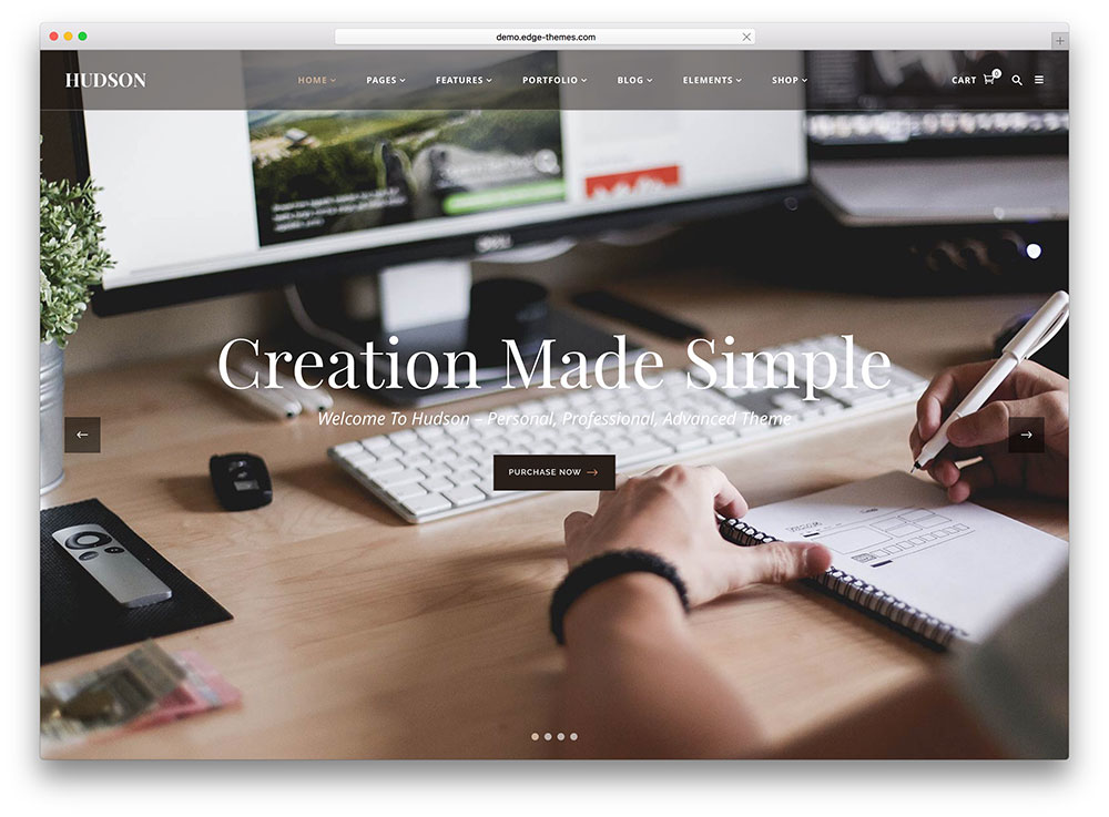 hudson-creative-fullscreen-wordpress-theme