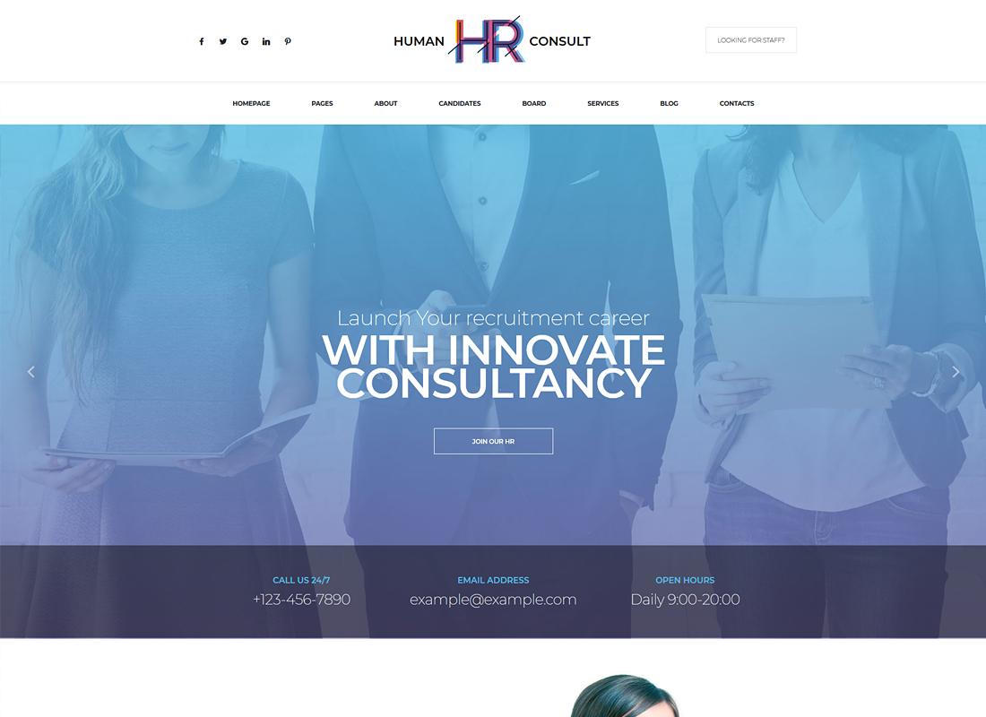 HR Human Consult | Human Resources & Recruiting WordPress Theme