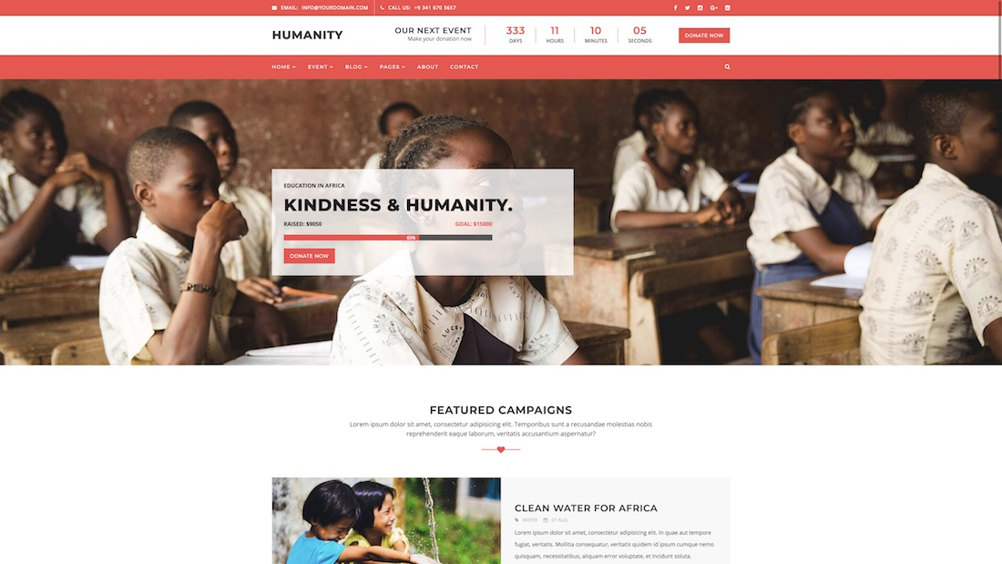 humanity website template