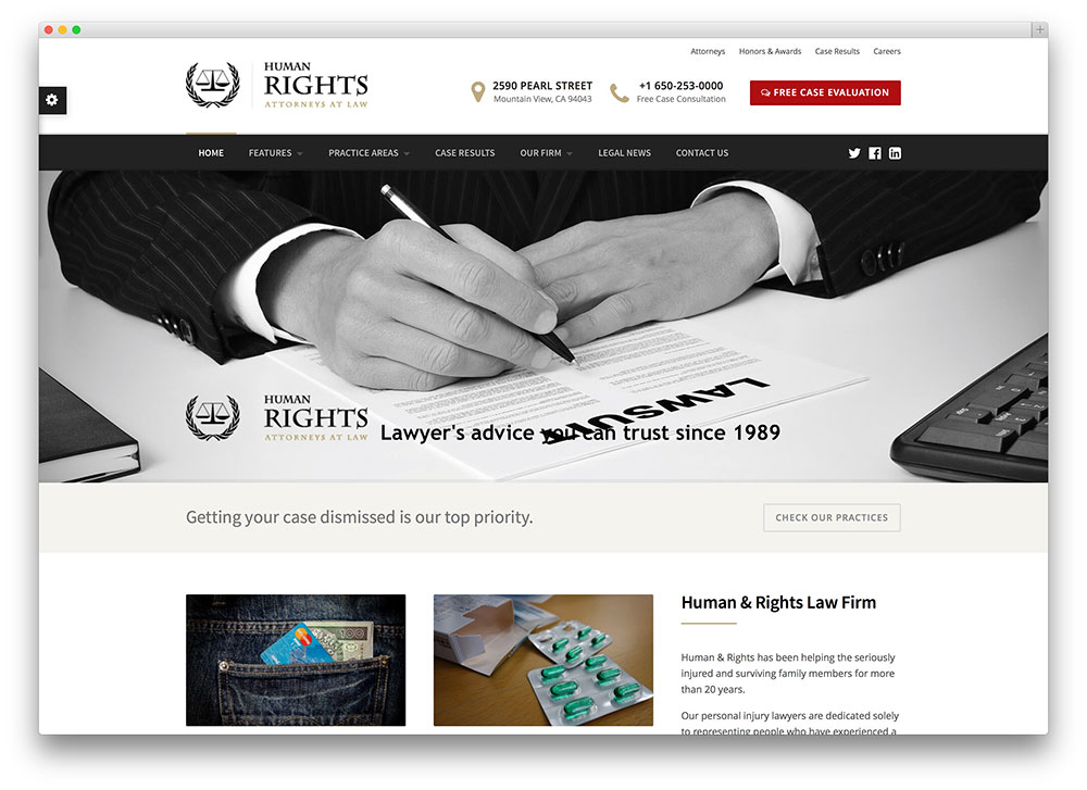humanrights attorneys wordpress theme