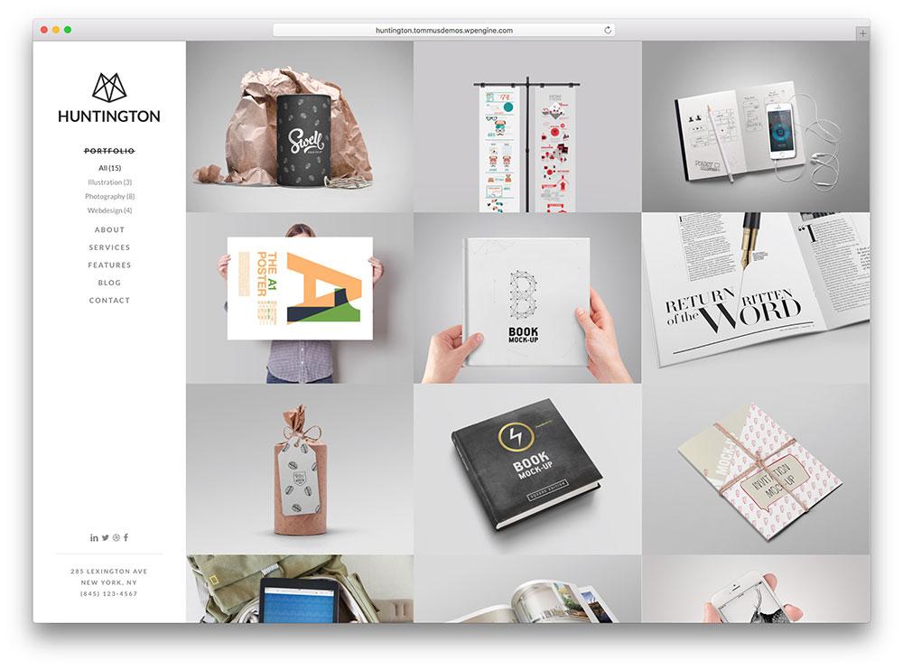 huntington - grid style portfolio