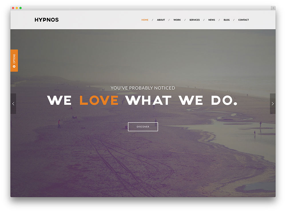 hypnos - one page multipurpose theme