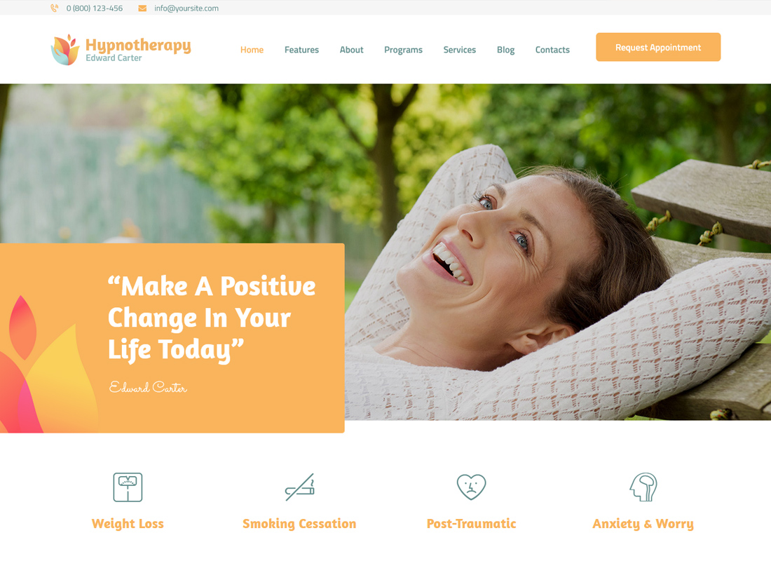 Edward Carter | Hypnotherapy and Psychologist WordPress Theme