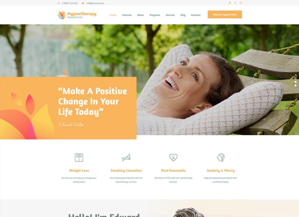 Edward Carter | Hypnotherapy and Psychologist WordPress Theme