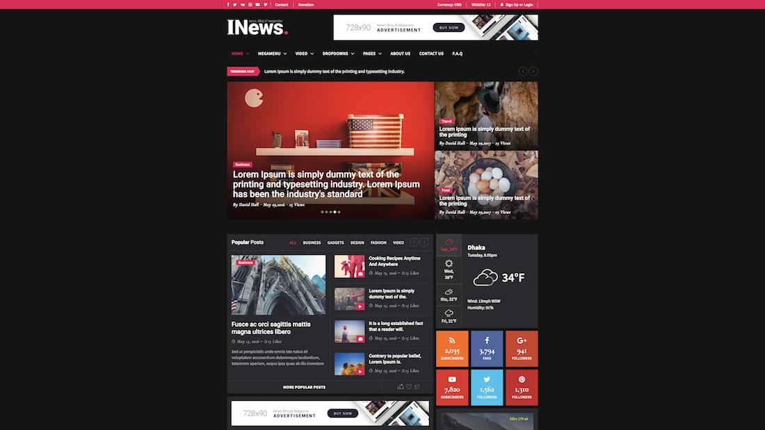 i-news website template