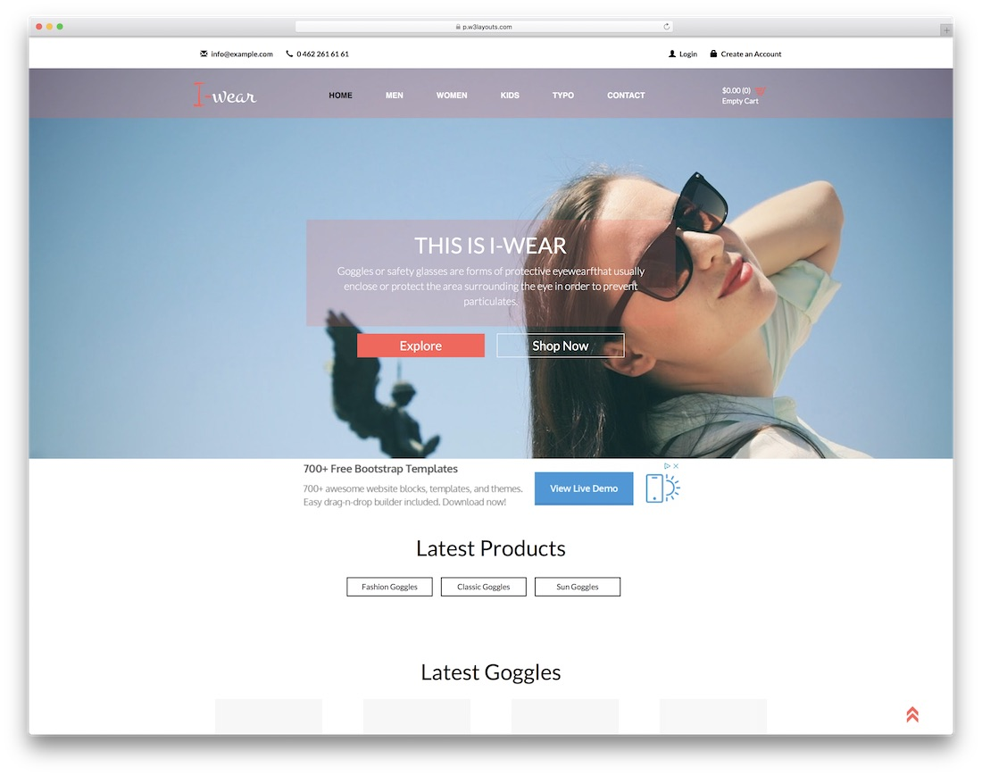 Top 41 Free Ecommerce Website Templates Built With Bootstrap 2018