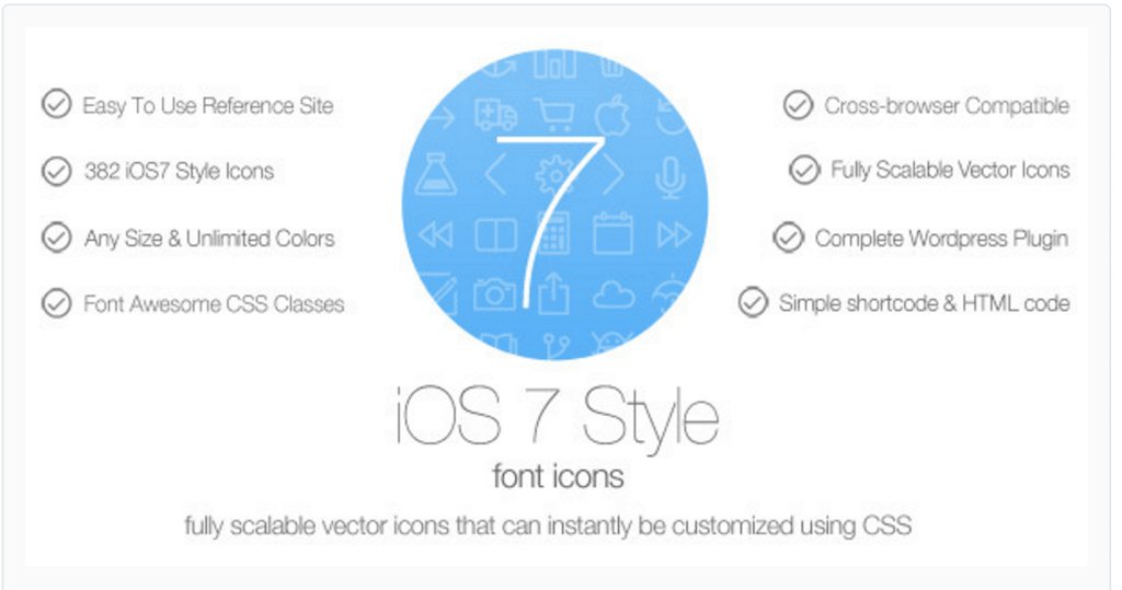 iOS7 Style Font Icons