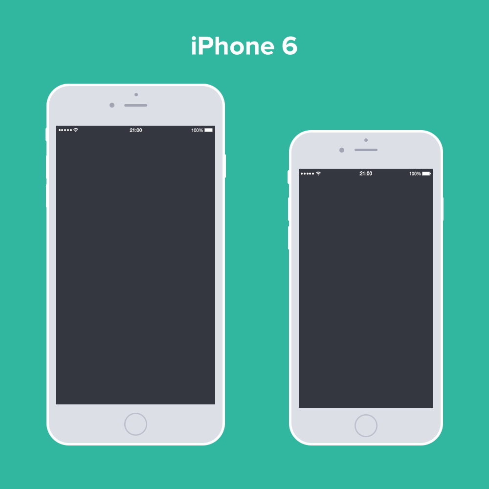 Free PSD iPhone 6 Flat Design Mockup