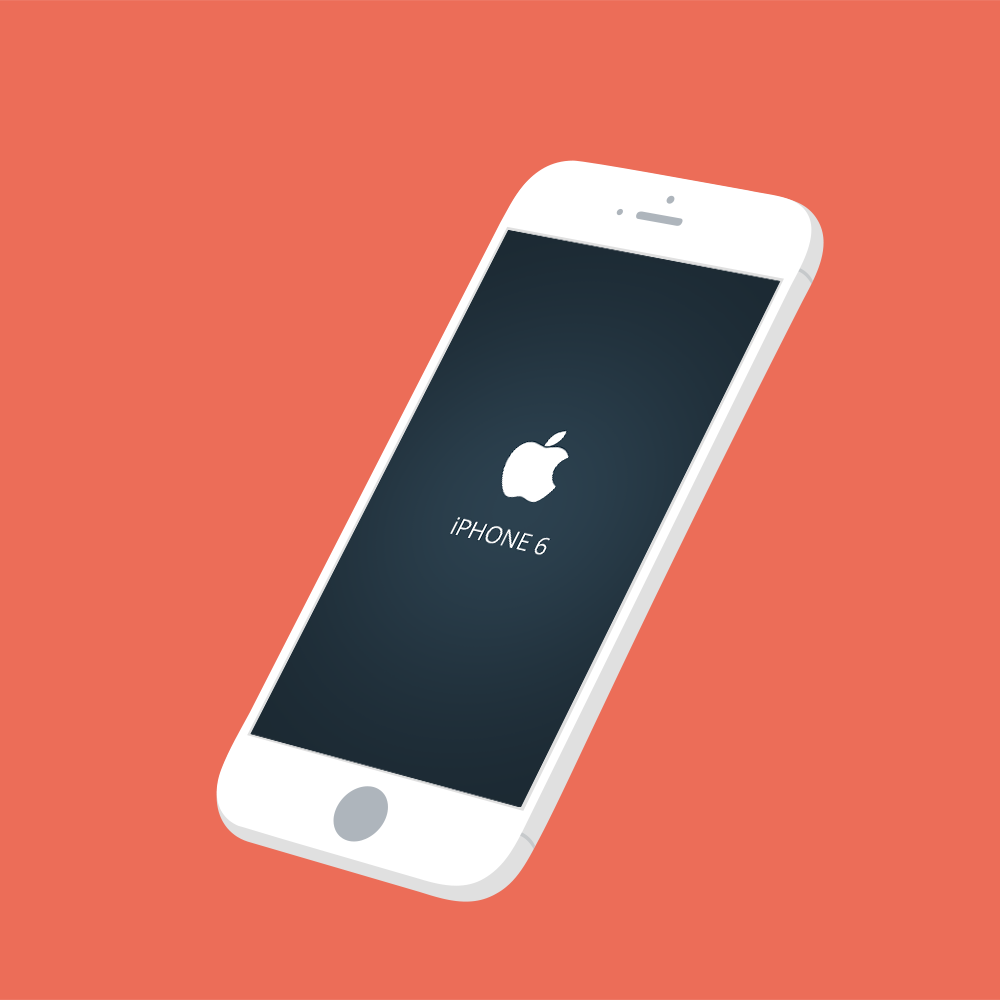 Free PSD iPhone 6 Mockup Render