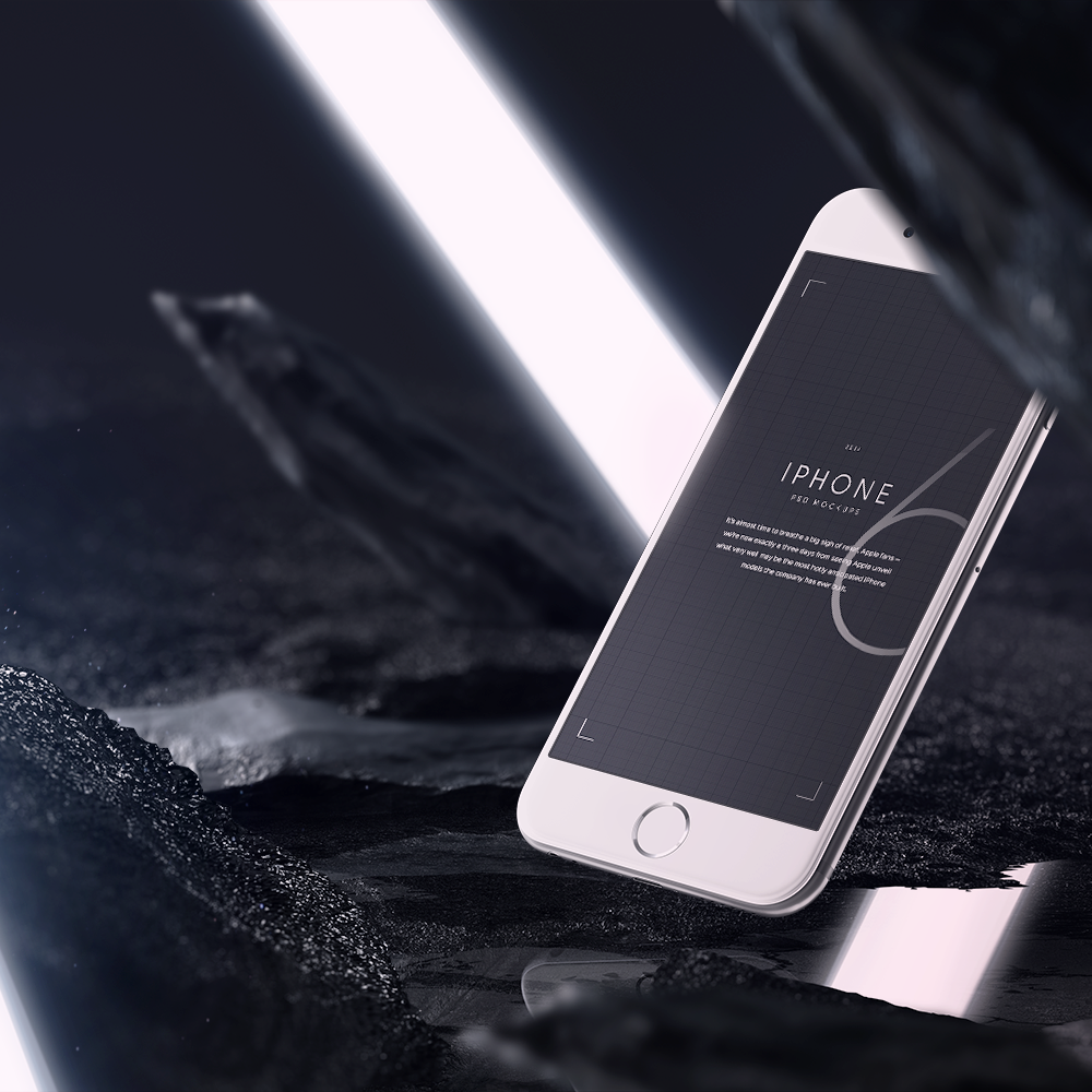 Free PSD iPhone 6 Mockup High Resolution