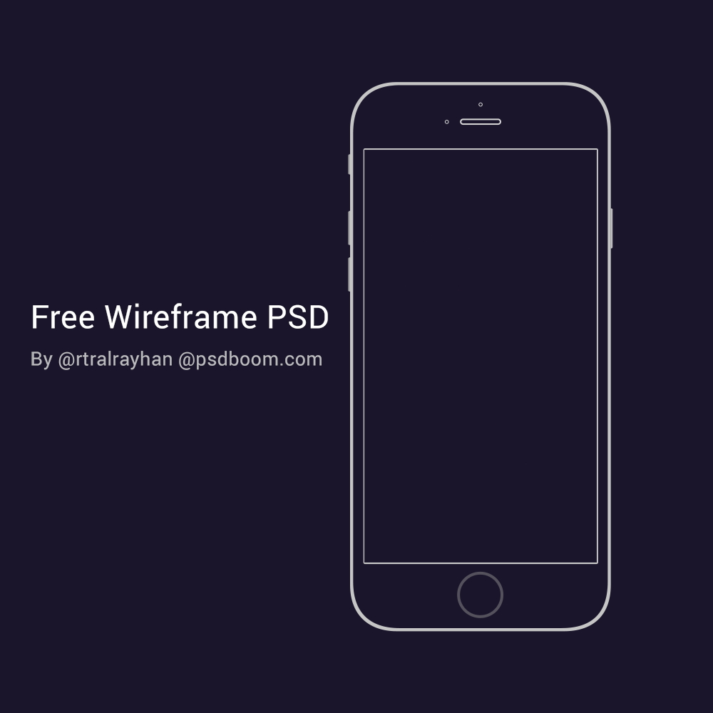 Free PSD iPhone 6 Mockup Template Wireframe