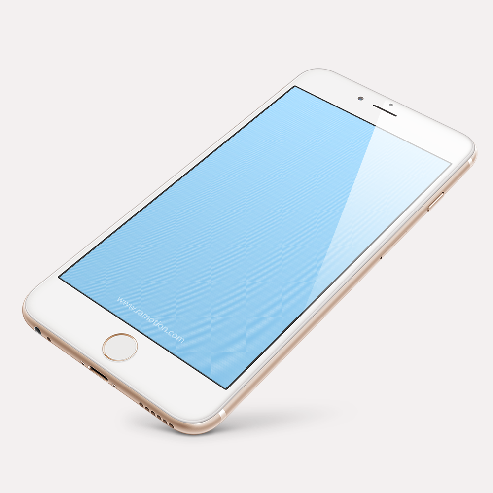 Free PSD iPhone 6s Perspective Mockup
